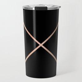Rose Gold Pink Arrows Travel Mug