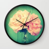 roses Wall Clocks featuring Roses by 2sweet4words Designs