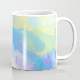 Colorful Abstract - blue, pattern, clouds, sky Coffee Mug