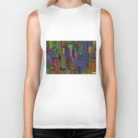 cityscape Biker Tanks featuring Cityscape night by Glen Gould