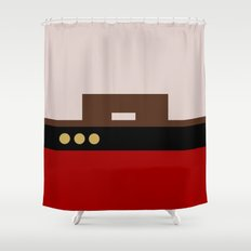 William Riker - Minimalist Star Trek TNG The Next Generation - Commander - startrek - Trektangles Shower Curtain
