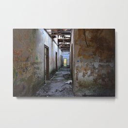 Abandoned Cotton Factory Metal Print