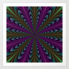 Spear Points in Purple and Green Art Print