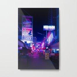 Bangkok Lights Metal Print