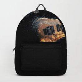 Flaming electric guitar Backpack