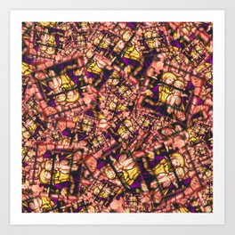 Jesus and Mary! it's a stampede of stamps! Art Print
