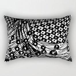 pulsating checkers Rectangular Pillow