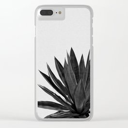 Agave Cactus Black & White Clear iPhone Case