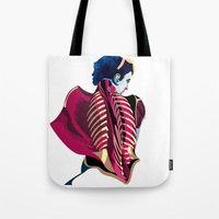 anatomy Tote Bags featuring Anatomy 07a by Alvaro Tapia Hidalgo
