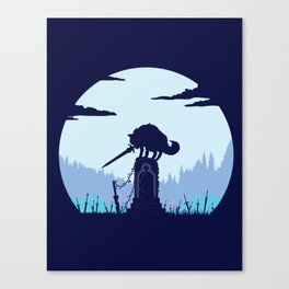 Grey Wolf Sif (Dark Souls) Canvas Print