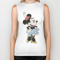 minnie Biker Tanks featuring Minnie Mouse by Adel