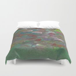 Abstract Flowers (Oil Paint) Duvet Cover