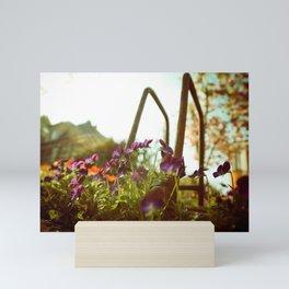 Violet Flowers Mini Art Print