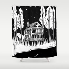 Mysterious Ghost Shower Curtain