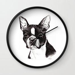 Boston Terrier Portrait Wall Clock