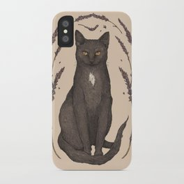 The Cat and Lavender iPhone Case