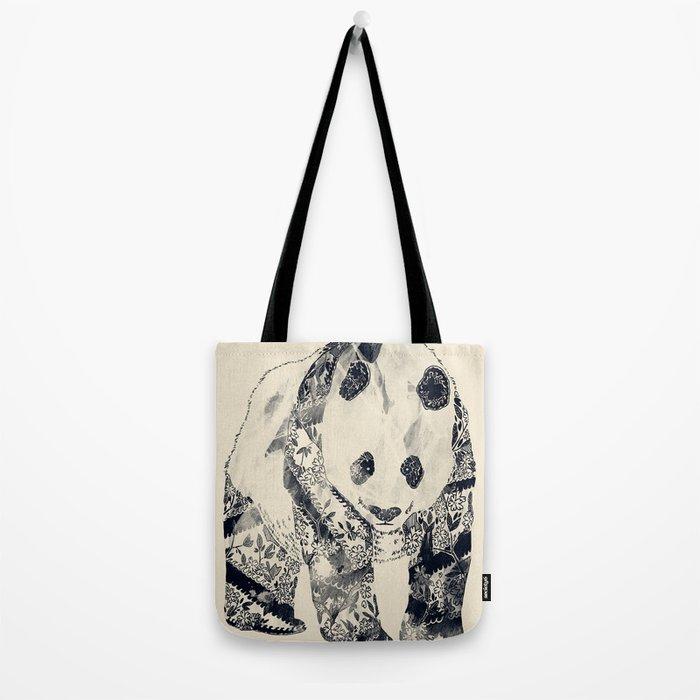 Tattooed Panda {cream} Tote Bag