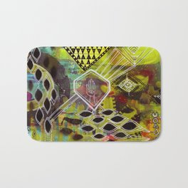 """""""Visuals for Airports #1"""" Original Painting by Lynzee Lynx Bath Mat"""