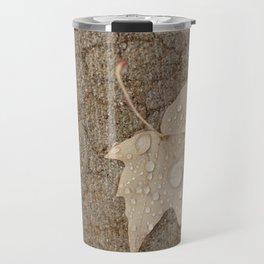 Camo Leaf Tries to Blend In Travel Mug