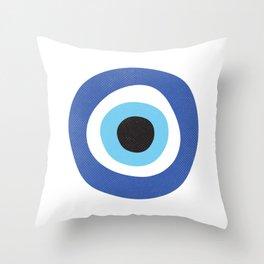 Evi Eye Symbol Throw Pillow