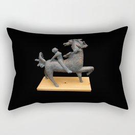 Horse and Girl Rectangular Pillow