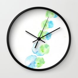 170414 Abstract Watercolour Play 13 Wall Clock