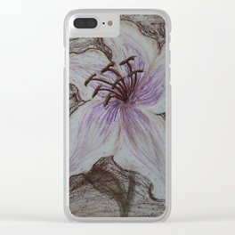 Stargazer Lily in Pastel Clear iPhone Case