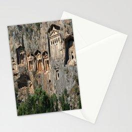 Lycian Tombs at Dalyan Close Up Stationery Cards