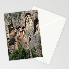 Lycian Tombs at Dalyan Close Up Stationery Cards