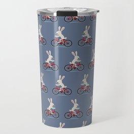 Bunny riding bike Travel Mug