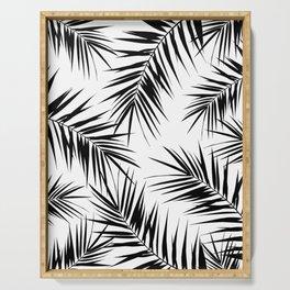 Palm Leaves Cali Finesse #3 #BlackWhite #tropical #decor #art #society6 Serving Tray