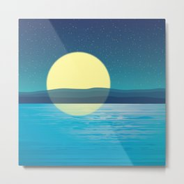 Night at the sea Metal Print