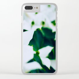 Bouquet Of White Flowers With Blurry Edit Clear iPhone Case