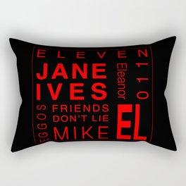 Eleven:Stranger Things - tvshow Rectangular Pillow