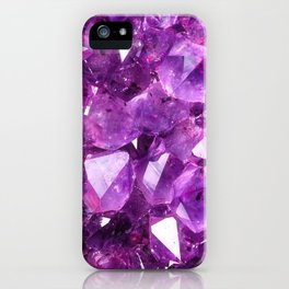 Purple Amethyst iPhone Case
