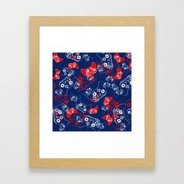 Video Game Red White & Blue 2 Framed Art Print