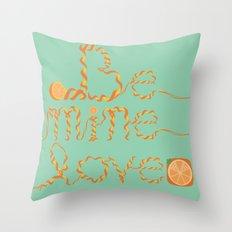 Valentine's Day Orange Peel Heart Throw Pillow