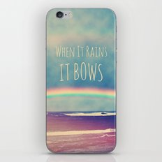 When It Rains, It Bows iPhone Skin