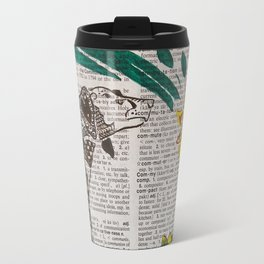 In The Year of the Earth Dog ( Dachshund and Orchids ) Travel Mug