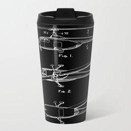 Helicopter Patent - Black Metal Travel Mug