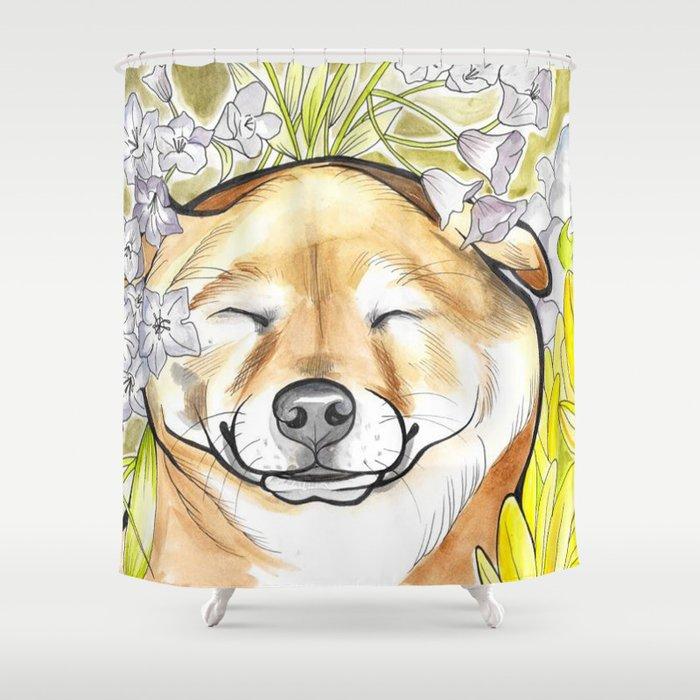 Jay Jay the happy Shiba Shower Curtain