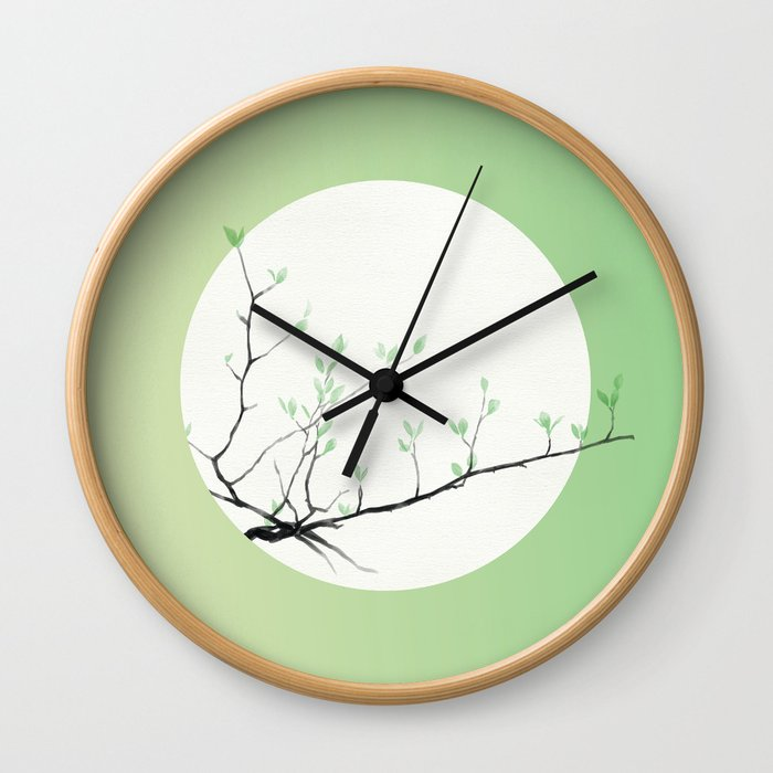 Grass Sprouts, Trees Bud Wall Clock