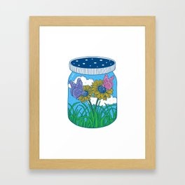 Little jar of happiness Framed Art Print