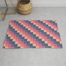 Descending Square Pattern Rug