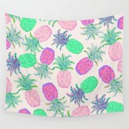 Pineapple Pandemonium Pink Punch Wall Tapestry
