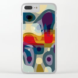 coming closer with our eyes, a distance forms around our bodies Clear iPhone Case