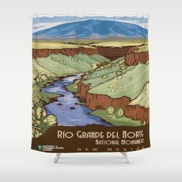 Vintage poster - Rio Grande Del Norte Shower Curtain