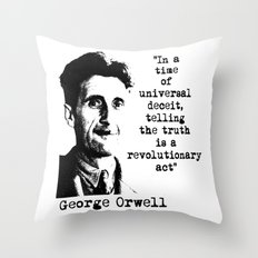 George Orwell Throw Pillow