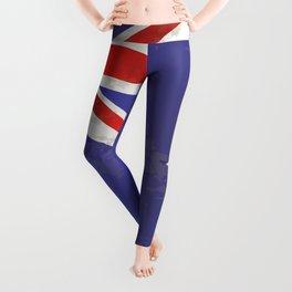 Flag of Australia Grunge Leggings