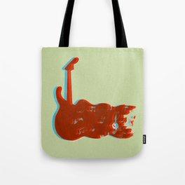 Silkscreen guitar print Tote Bag